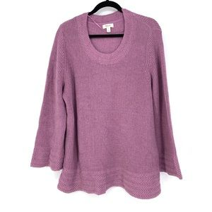 Style&Co Plus Size Sweater Flared Sleeve Lavender